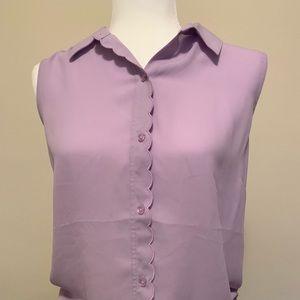 Banana Republic scallop blouse